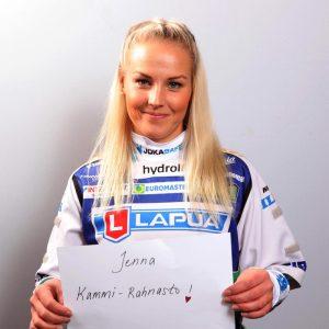 Finnbroden kummipelaaja Jenna Kammi-Rahnasto